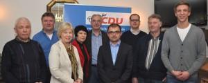 Der neue Vorstand ist gewählt (v.l.): Karl Bruns, Dieter Nüsse, Monika Wassermann, Maria Borker, Hubert Schnieders, Sebastian Derr, Heinz Möddel, Hermann Wess, Michael Peters.