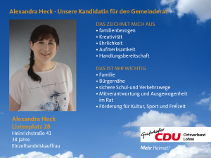 28. Listenplatz: Alexandra Heck