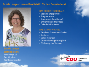 6. Listenplatz: Saskia Lange