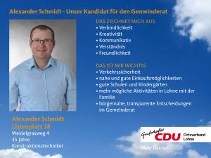 18. Listenplatz: Alexander Schmidt