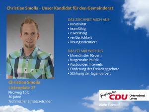 27. Listenplatz: Christian Smolla