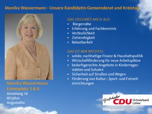3. Listenplatz: Monika Wassermann