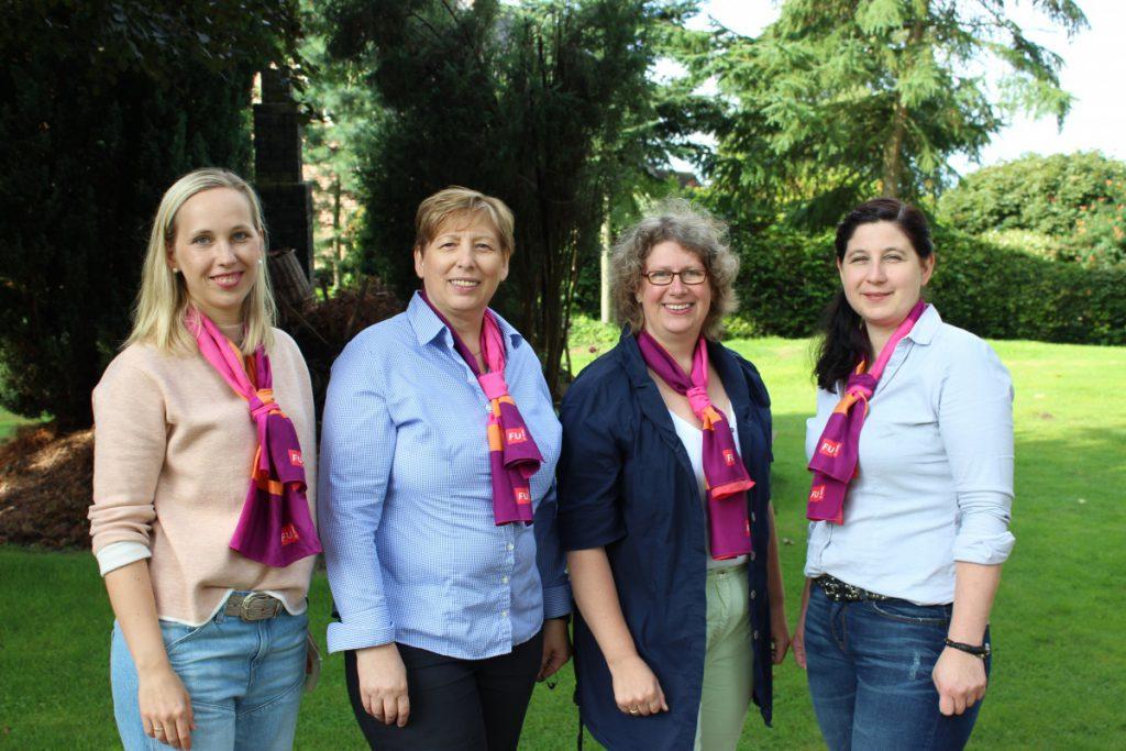 Der Vorstand der Frauen Union Lohne - Katrin Dinkelborg, Walburga Stevens, Saskia Lange und Alexandra Heck